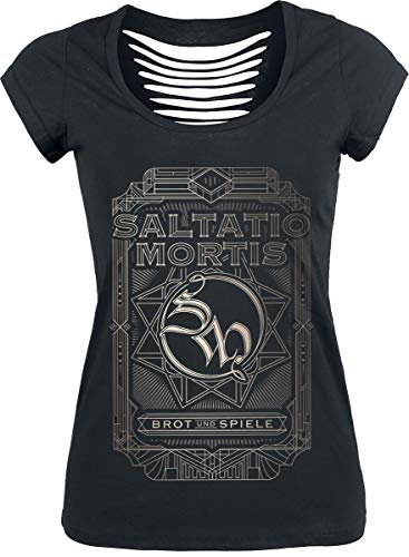 Saltatio Mortis Brot & Spiele Frauen T-Shirt schwarz 3XL 100% Baumwolle Band-Merch, Bands
