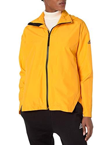 adidas Outdoor Urban Climaproof - Chaqueta impermeable para mujer, color dorado activo, M