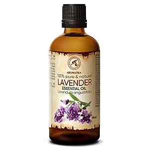 Aceite Esencial de Lavanda 100ml - Oleum Lavandulae - Bulgaria - 100% Puro y Natural - para Dormir Bien - Belleza - Bienestar - Aromaterapia - Relajación - Aroma de la Habitación - Lámpara de Aroma