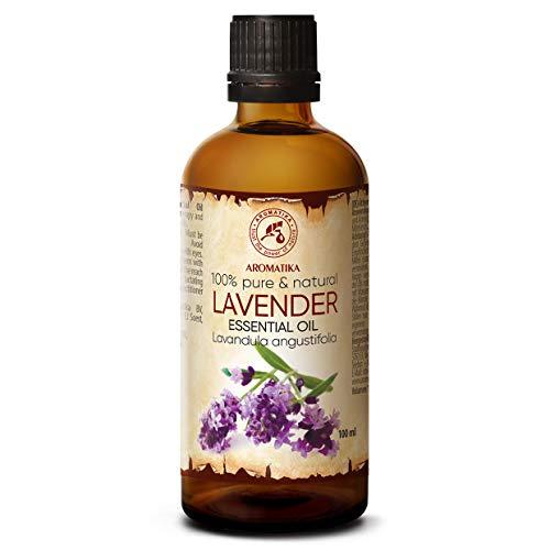 Olio Essenziale di Lavanda 100ml - Lavandula Angustifolia - Puro & Naturale 100% - Aromaterapia - Contro Ansia - Insonnia e Stress - per Insetti e Zanzare - Massaggi...