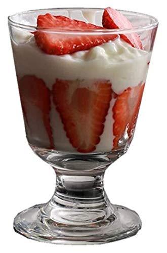 Ciotole/tazze da dessert in vetro trasparente da dessert -...
