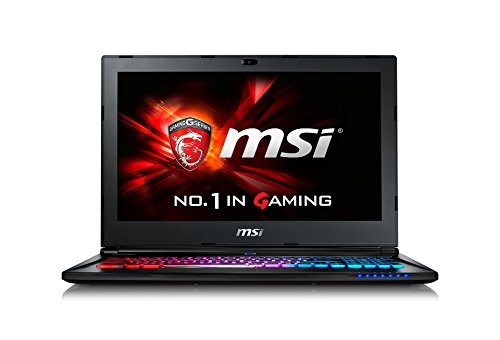 MSI GS60-6QEi581 39,6 cm (15,6 Zoll) Laptop (Intel Core i5 6300HQ, 8GB RAM, 1TB HDD, NVIDIA GF GTX 970M, Win 10 Home) schwarz/grau