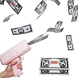 Willingfun Pink Money Gun, Make it Rain Gun, Cash Cannon Gun, Money Shooter Gun, Money Blower Gun, Spray Money Gun with 200 pcs Prop Money for Party or Games