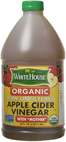 White House Vinegar - Natural Unfiltered, Organic Apple Cider - Fresh Press 64oz Jugs - For Recipes, Production, All Purpose (1 Jug)