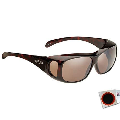 ALPINA Sonnenbrille Overview Rahmen Glas verspiegelt Havanna Platin + Flicken