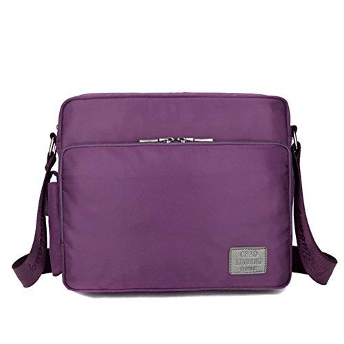 MiCoolker Waterproof Multifunction Crossbody Bag Messenger Bag Purple, Large