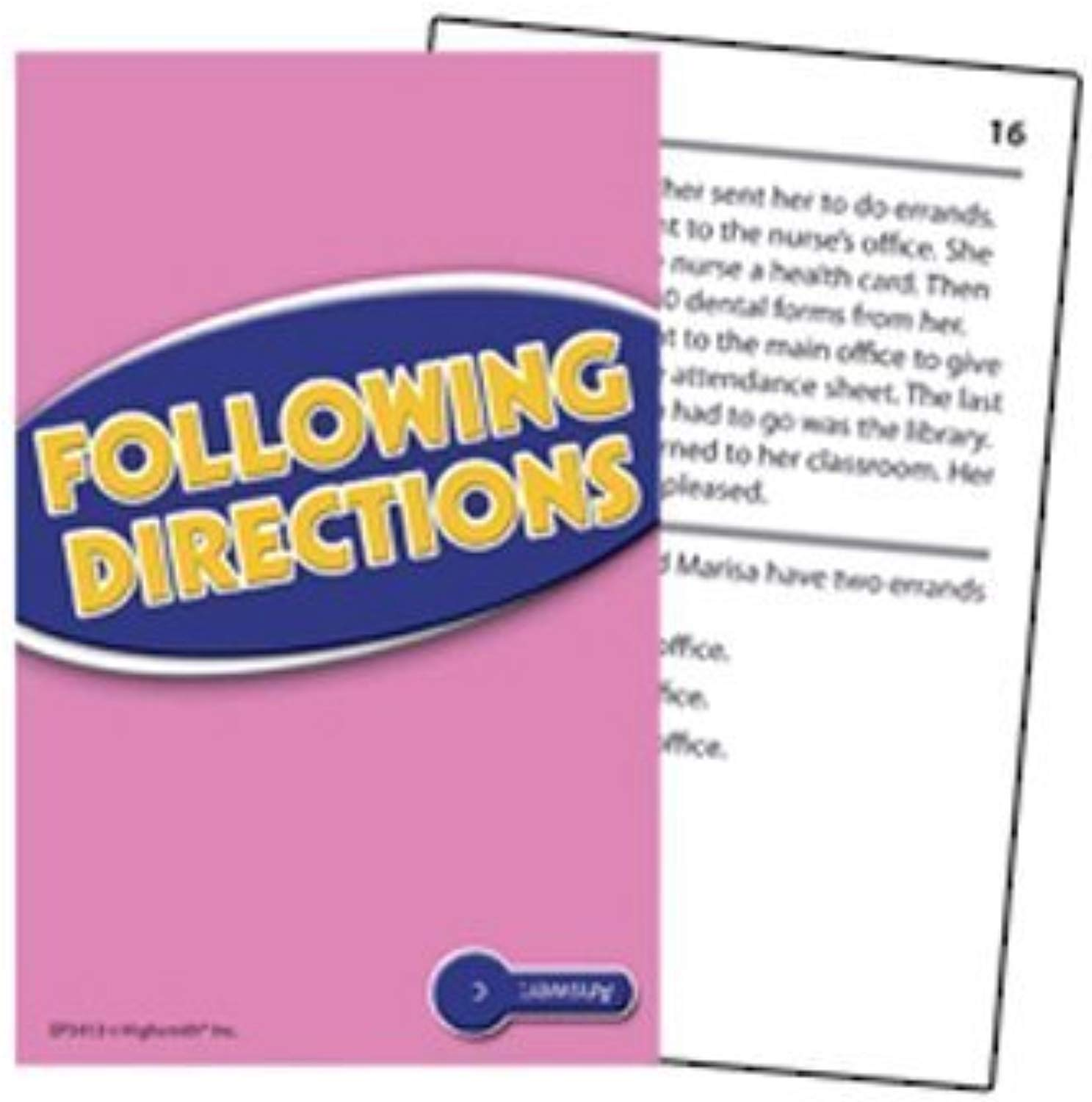 Following Directions Practice autods by Edupress