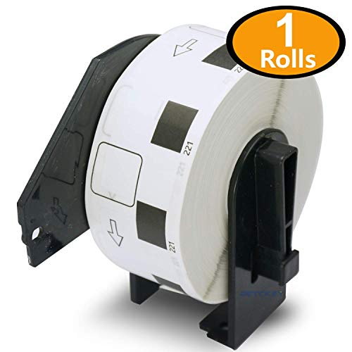 1 Rollen Brother-kompatibel DK-11221 23mm x 23mm 1000 Etikettens per Roll Thermopapier mit Trägerspule