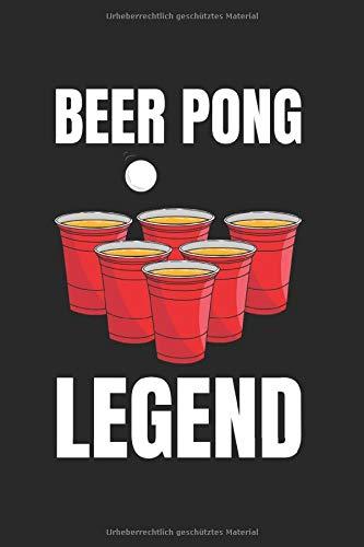 Beer Pong Legend Notizbuch: Bier Notizheft A5 kariert Rechenheft Notizblock für Biertrinker Journal Schulheft Geschenk für Studenten Heft mit Kästchen