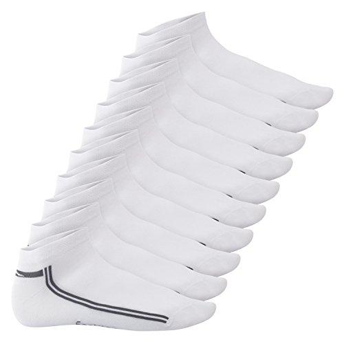 Footstar Damen und Herren Motiv Sneaker Socken (10 Paar) - Weiß 43-46