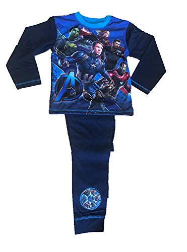 Offiziell Jungen Schlafanzüge Marvel Avengers Kinder Pyjama - Avengers, 116
