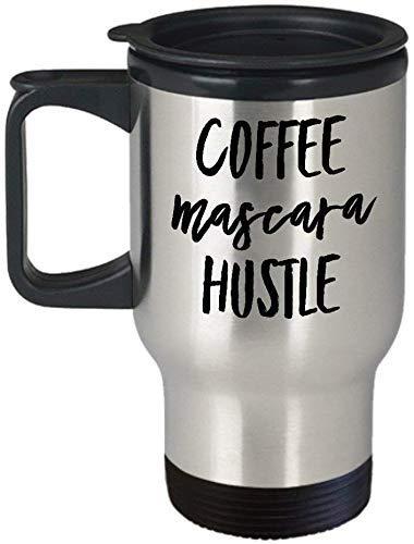 Koffie Mascara Hustle Travel Mok geweldig cadeau voor ondernemers en Lady Bosses