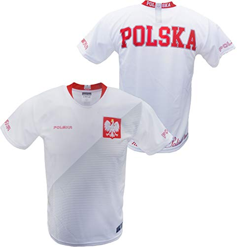 Men's Polska Polish National Soccer Team Replica Jersey White - Made in Poland L