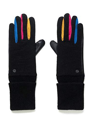 Desigual Womens Fun Cold Weather Gloves, Black, U