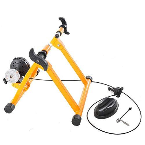 Turbo Trainer Bike Trainer Stand Fahrradübung Magnetständer mit Geräuschreduzierungsrad für Indoor Trainer Gelb