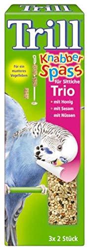 Trill Knabber Spaß für Sittiche Trio mit Honig, Sesam, Nuss 14x6 Stück