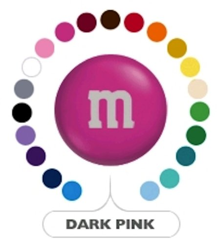 M&M's Dark Hot Pink Milk Chocolate Candy 5LB Bag (Bulk)