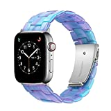 WTYUNIE Compatible with Apple Watch Straps 38mm Designer Resin Watch Band High-end Bracelet Replacement for 38mm iWatch Band 40mm Series 6 5 4 3 2 1 SE Dream Blue
