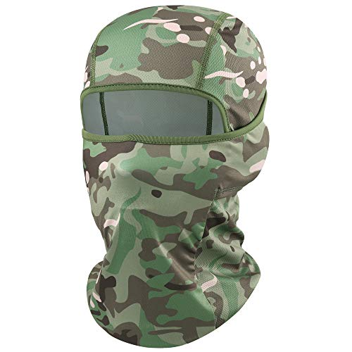YOSUNPING Camouflage Balaclava Full Face Mask Hood Ninja Breathable & Lightweight Outdoor Cycling Motorcycle Hunting Military Tactical Helmet Liner Gear Airsoft Paintball Masks 05