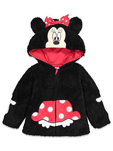Disney Minnie Mouse Little Girls Sherpa Fleece Costume Zipper Hoodie 7/8