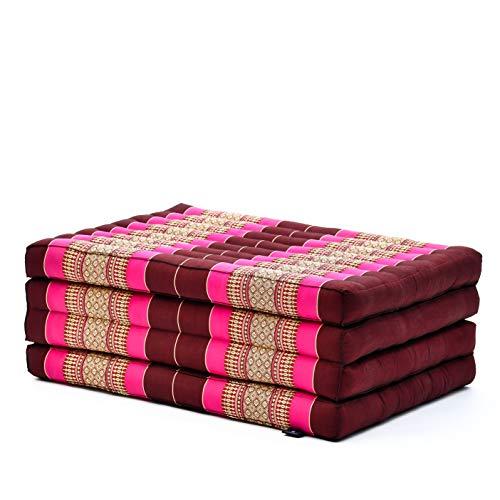 Leewadee futón Plegable Standard – Colchoneta para Doblar de kapok orgánico Hecha...