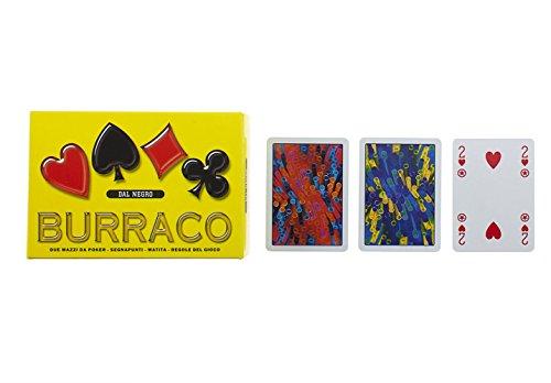 Unbekannt Dal Negro 90064Burraco Deluxe mit Kartenspiel, Box-gelb [Import Italien]