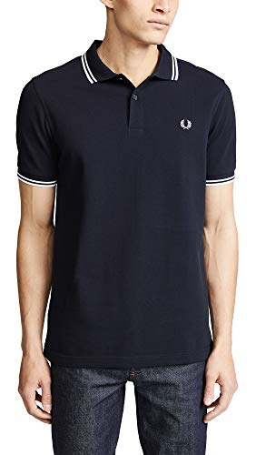 Fred Perry M3600, Polo Para Hombre, Inkyblu/Snwwhite, Large