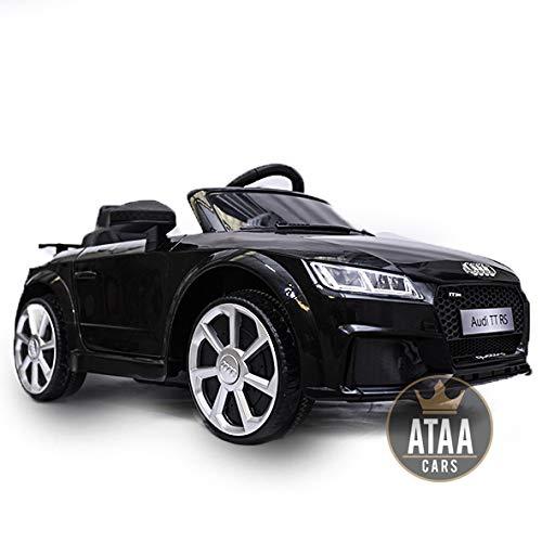 Audi AG 12v Licenciado con Mando - Coche eléctrico para niños - Negro