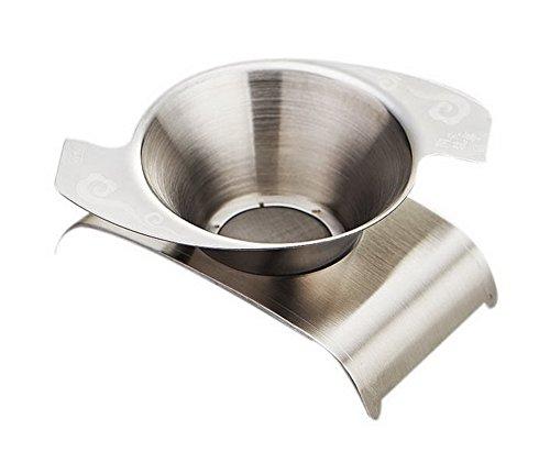 Spicy Meow Filtre à thé Comma de thé d'accessoires de thé de Kung Fu d'acier Inoxydable + Base de Filtre de thé
