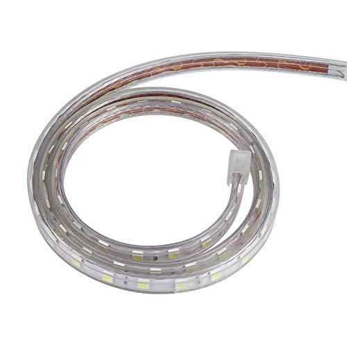 OUKENS Tira de Luces LED Flexibles, 1 m/5 m/10 m SMD 5050 Tira de LED Luz de Cuerda de Cinta Flexible, Luces LED para el hogar, Cocina, habitación, Dormitorio, Dormitorio(Warm White-1 M + Enchufe)