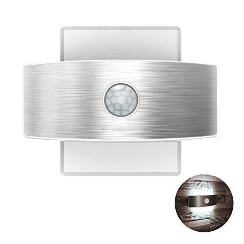 TopYart- LED人感センサーライト USB充電式&電池式 壁掛け照明 自動点灯消灯 簡単取付 屋内 led壁灯 インテリア照明 階段・玄関・寝室・廊下などの照明 (昼白色)