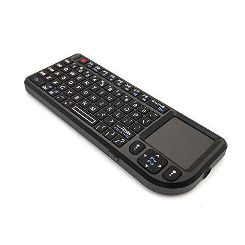 KK Zachary Multimedia-Tastatur Komfortable Tastaturkonferenz Handheld Kleiner Tastatur Multifunktionale Tastatur 2.4g drahtlose Mini-Tastatur mit Touchpad