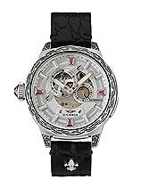 HÆMMER Pink Passion Skeleton Automatikuhr Damen aus Edelstahl | Exklusiv Limitierte Damenuhr mit Kalbsleder Armband Uhr mit Inkgraved veredeltem Gehäuse