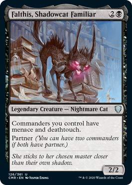 Magic: The Gathering - Falthis, Shadowcat Familiar - Foil - Commander Legends