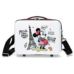 Disney Neceser Abs Minnie Earth Adaptable, Rojo