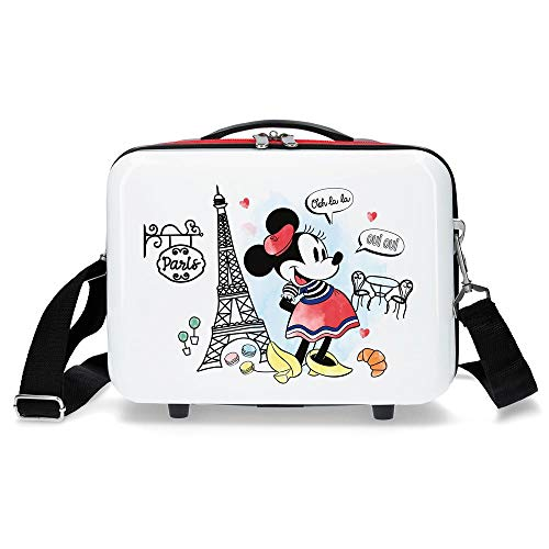 Disney Neceser Abs Minnie Earth Adaptable, Rojo