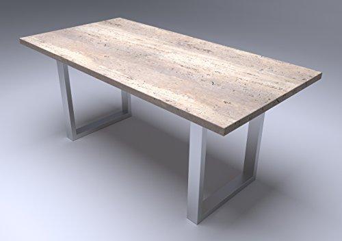 Tischgestell in U-Form (1 Stück) Edelstahl-Design, Tischkufe, Tischbeine