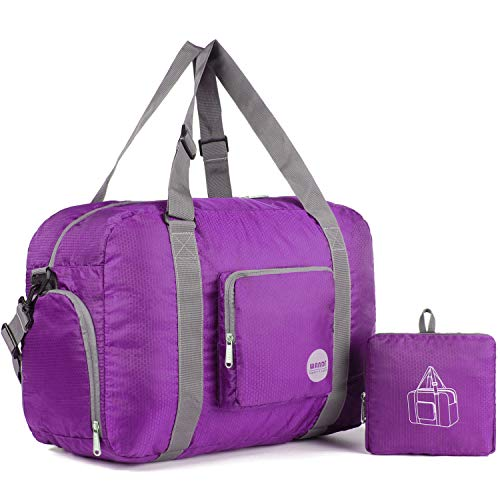 Bolsa de viaje plegable de Wandf, 20 – 50 litros, ultraligera, bolsa de viaje para equipaje, deporte, fitness, nailon impermeable