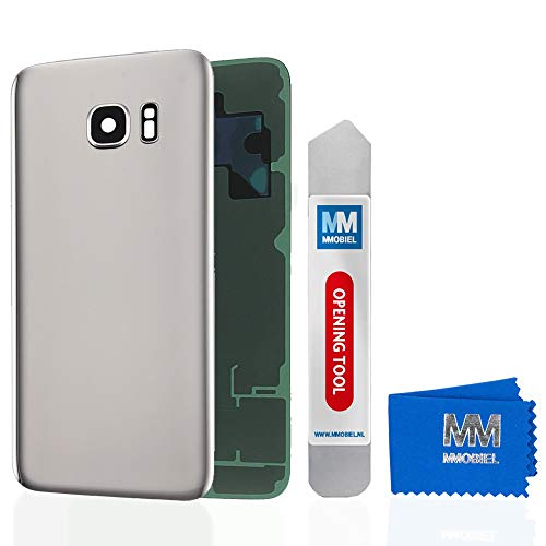 MMOBIEL Backcover Akkudeckel Rückseite Rück Klappe mit Linse kompatibel mit Samsung Galaxy S7 G930 5.1 Inch (Silver)