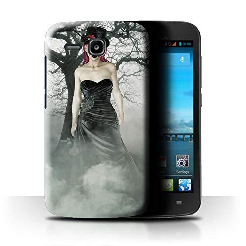 Stuff4 Hülle/Hülle für Huawei Ascend Y600 / Schwarzes Kleid Frau Muster/Tag Der Toten Festival Kollektion
