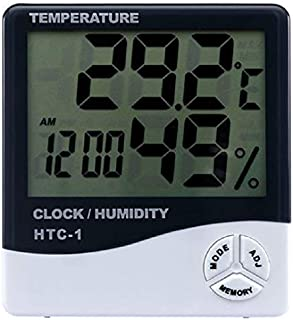 Indoor Electronic Thermometer Alarm Clock Household Large Screen Thermometer