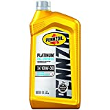Pennzoil Platinum Full Synthetic Motor Oil 10W-30, 1 Quart - Pack of 1