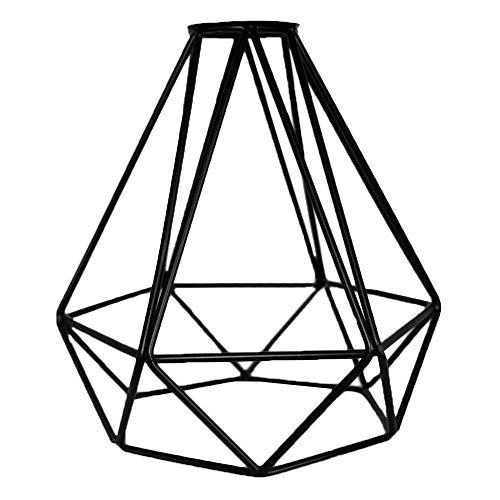 Pantalla de lámpara loft industrial retro, pantalla de jaula negra para lámparas de suspensión E27 Lámparas de pared para cocina sala de estar dormitorio restaurante,1 pc
