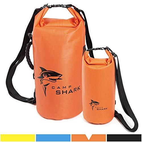 REVALCAMP Dry Bag 5L Orange - Nicht Krebserregendes PVC* - wasserdichte Tasche aus TPU - Kein übler Geruch, Bessere Elastizität and Längere Lebensdauer - Für den modernen Abenteurer entworfen