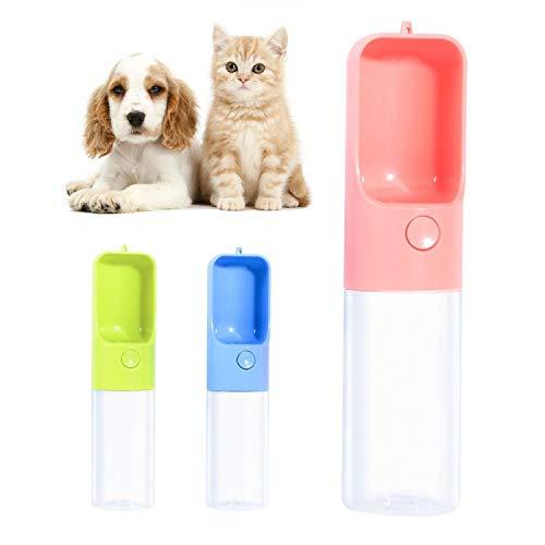 Qisiewell Hunde Trinkflasche fur Unterwegs 450ml Rosa Hund Wasserflasche Haustier Trinknapf Antibakterielle Tragbare Reise Trinkflasche Wasserspender Ideal fur fur Unterwegs Outdoor