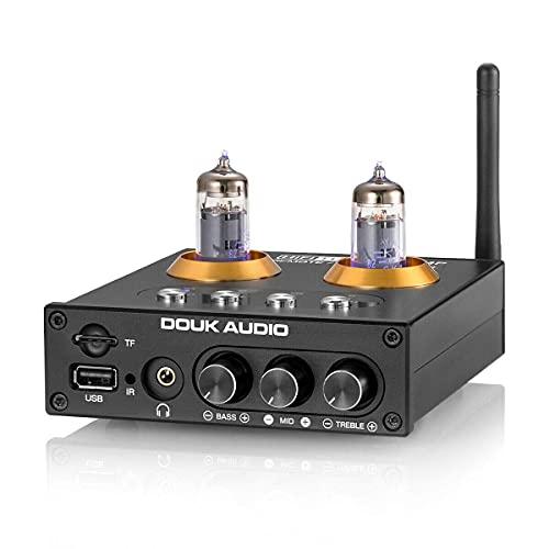 Mini Bluetooth 5.0 tubo de vacío preamplificador HiFi reproductor USB estéreo audio auriculares amplificador