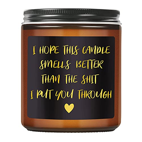 TASRUIMI Lavender Scented Candles - Funny Candles Gifts for Women, Mom, Dad - Gifts for Boyfriend, Girlfriend, Friend, Uncle, Wife, Husband, Her, Him - Mothers Day, Fathers Day, Apology, Gag Gifts…