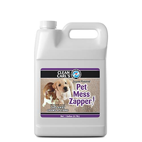 Clean Carl's Pet Mess Zapper, Enzyme Powered Pet Urine Cleaner, 1 Gallon