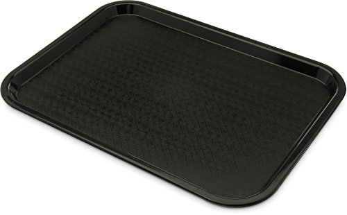 Carlisle CT121603 Café Standard Cafeteria / Fast Food Tray, 12' x 16', Black