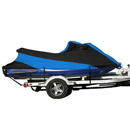 SavvyCraft Sea Doo Jet Ski LRV 4 Seater Custom Fit Trailerable Jetski PWC Cover 1999-2003 Blue/Black Color